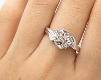 cb237e132 Kay Jewelers 925 Sterling Silver Real Diamond Ring Size 7