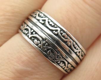 20 mm Ring Seal Ring Silver 925 Mandarin Granate Spessartin Vintage Noble SR742