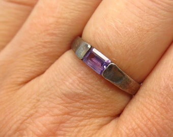Sterling Silver and Amethyst Ring size 7 34