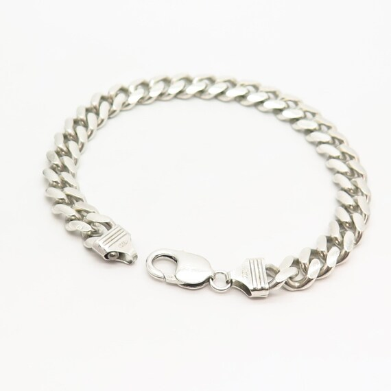925 Sterling Silver Vintage Italy Thick Cuban Link