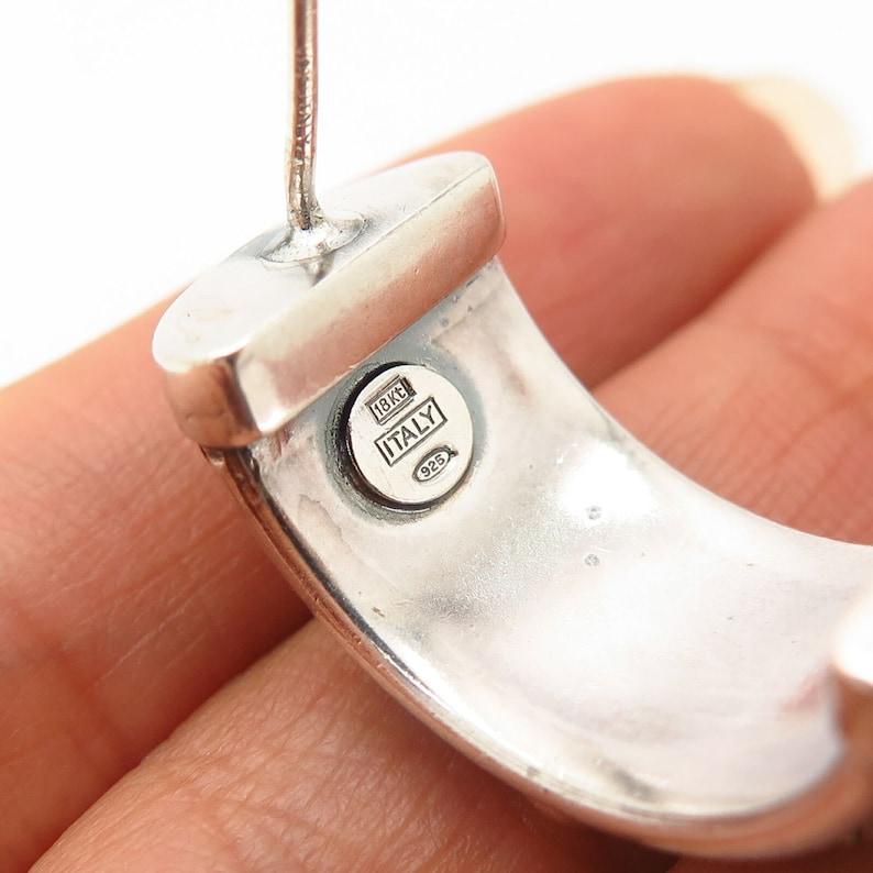 925 Sterling Silver  18K Italy Woven Design Earrings