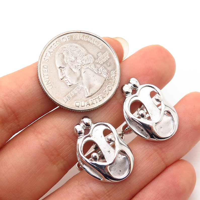 925 Sterling Silver Carolyn Pollack Abstract Family Cufflinks