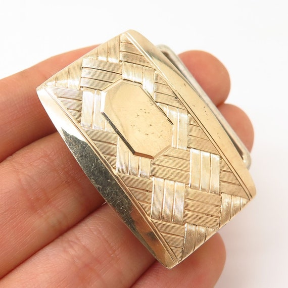 925 Sterling Silver Hadley Quality Co Gold Plated Belt Buckle