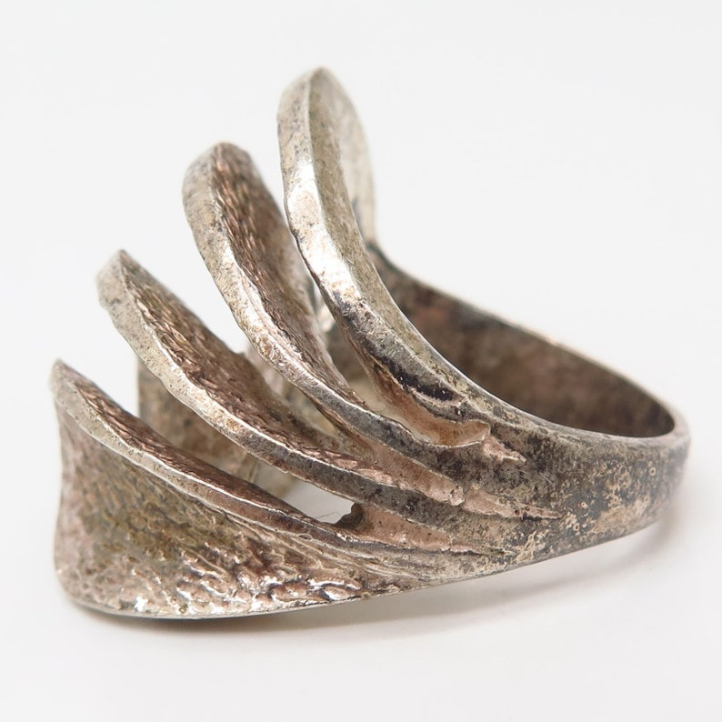 930 Silver Vintage Israel Heavy Ring Size 7.5