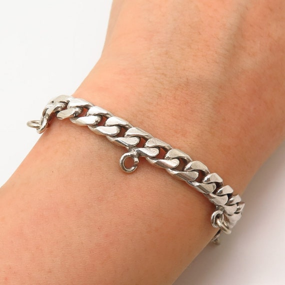 925 Sterling Silver Vintage Mexico Saul Cuban Link