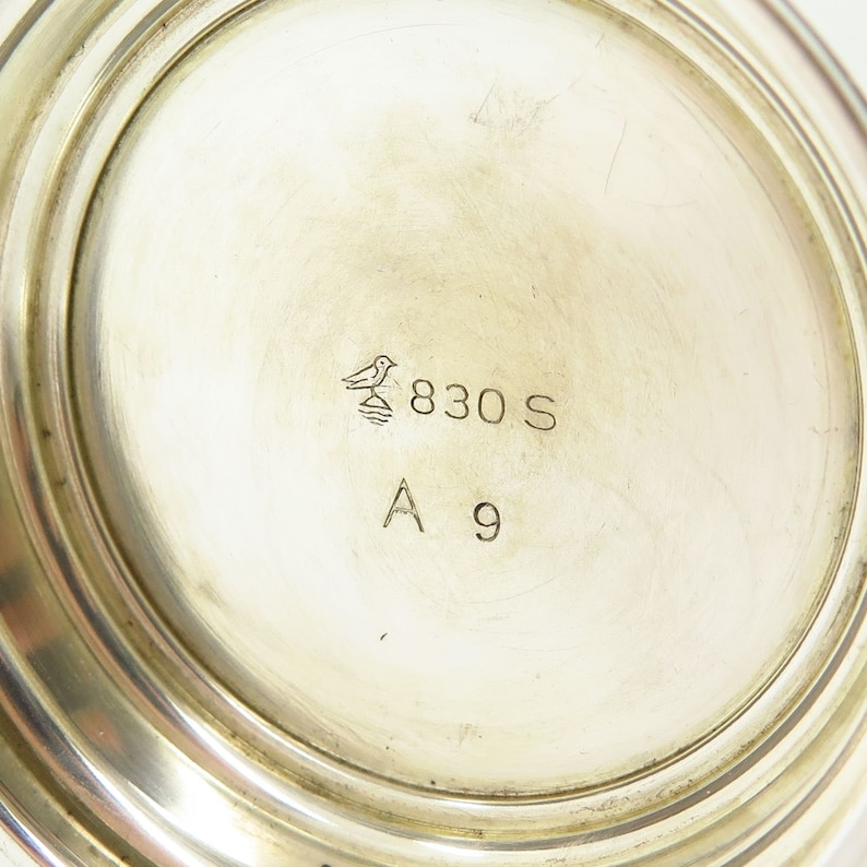 Vtg Norway Brodrene Mylius 830S Silver TROPHY Cup  Small Vase