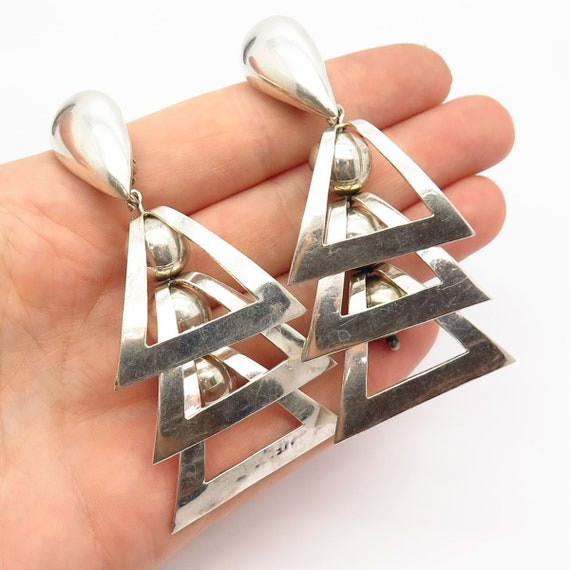 925 Sterling Silver Vintage Mexico Geometric State