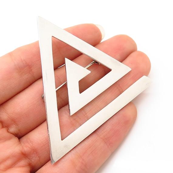 925 Sterling Silver Vintage Mexico Triangle Pyrami