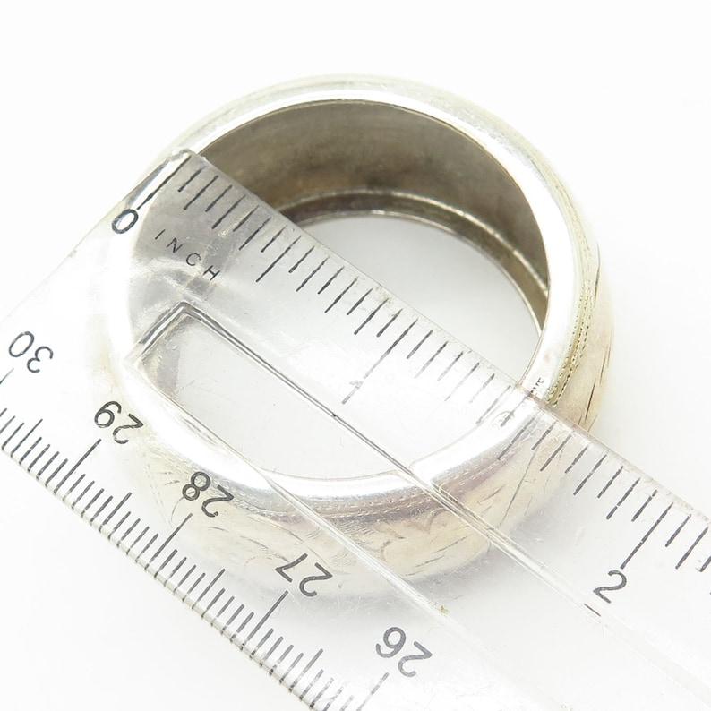 Vtg Signed 925 Sterling Silver Swirl Design Napkin Ring Holder