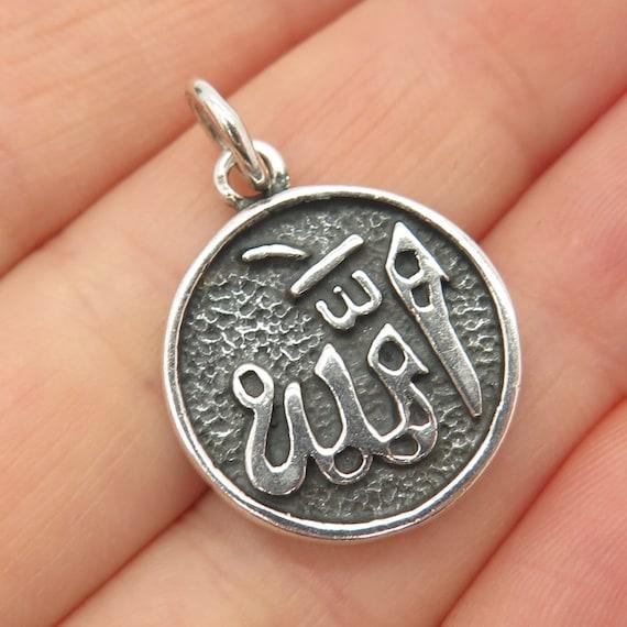 925 Chain Italy Pendant Vintage Italian Sterling Silver 925 Arabic Prayer Pendant Necklace Arabic Pendant Charm Made in Italy 925 1187 VI