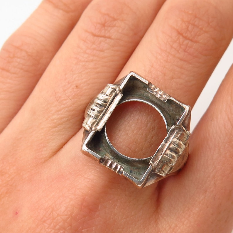 925 Sterling Silver  10K Antique Art Deco Ostby and Barton Mens Ring Size 10