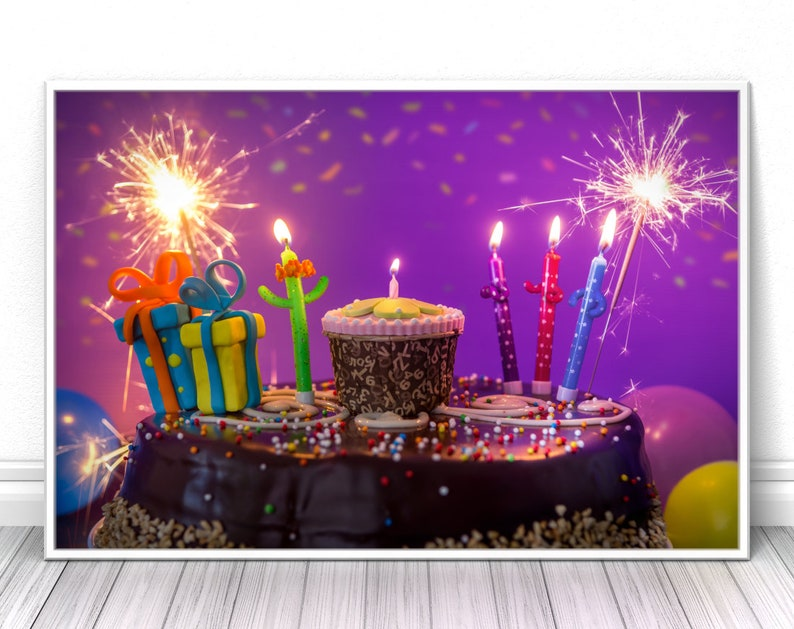 Birthday celebration print Colorful Playroom fine art prints image 0