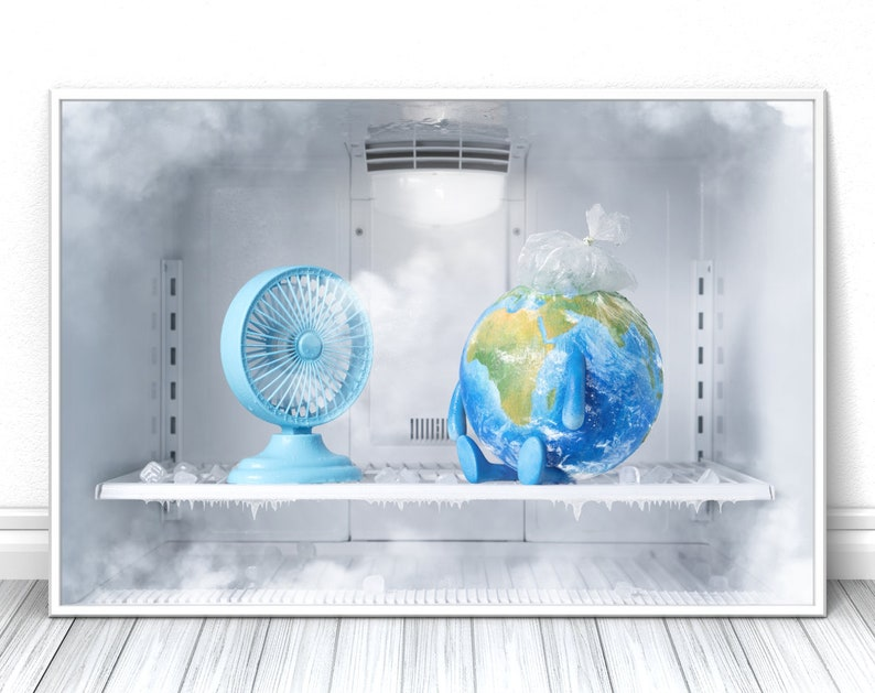 Global Cooling print Creative comic fine art photography image 0