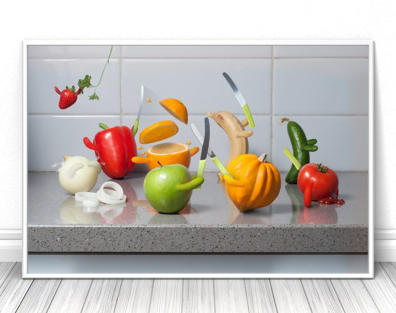 Fruits Kitchen print Funny unique Creative Photography image 0