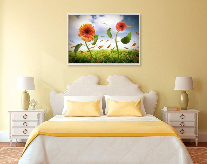 Nature art print Creative photography Bedroom decor Floral wall art Romantic Flower print Living room wall art