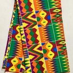 African Print Fabric/Ankara - Multicolored 'Rainbow' Kente, YARD or WHOLESALE