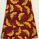 African Print Fabric/ Ankara - Red, Marigold 'Floral Jubilee v6.0', YARD or WHOLESALE