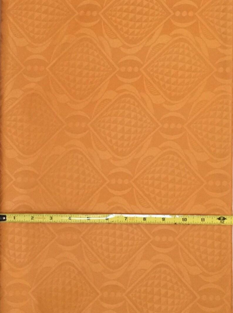 Fabric Brocade Per Yard Pumpkin African Bazin