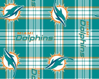 Miami Dolphins Fleece Handcrafted Blanket Sets