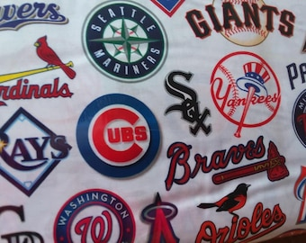 MLB All Teams Cotton Fabric by the Yard