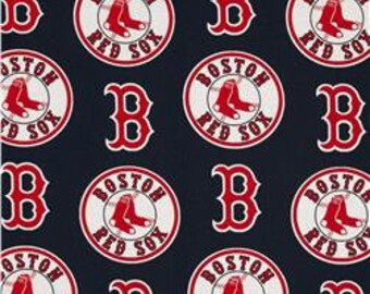 """Valance, Curtain Panel, Matching Pillow Cover """"Boston Red Sox """""""