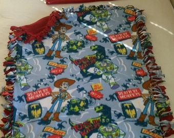 Fleece Toy Story Handcrafted Blanket with FREE Matching Pillowcase