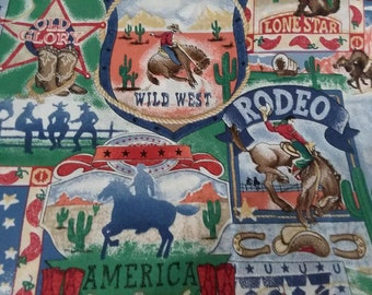 Fat Quarter Wild West Saloon Western Saddles 100/% Cotton Quilting Fabric Black