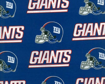 "Valance, Curtain Panel, Matching Pillow Cover ""New York Giants"""