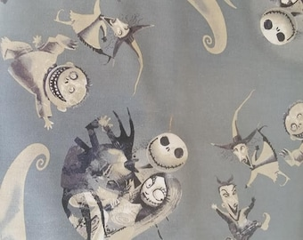 """Valance, Curtain Panel, Matching Pillow Cover """"The Nightmare before Christmas"""""""