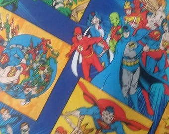 "Valance, Curtain Panel, Matching Pillow Cover ""DC Comic Super Heroes"""