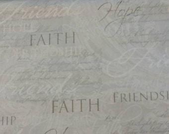 Faith Cotton Fabric by the Yard