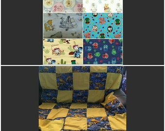 """Quilt, Baby, Throw, Twin, Full, Queen, King,  Pillow Cover,  Valance, Curtain Panel """"Disney Jr. Characters"""""""