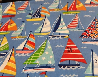 First Mate Sailor Whales Sea Ocean Boats 100/% Cotton Fabric Patchwork