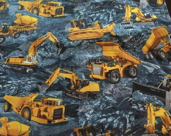 Heavy Equipment Cotton Fabric by the Yard