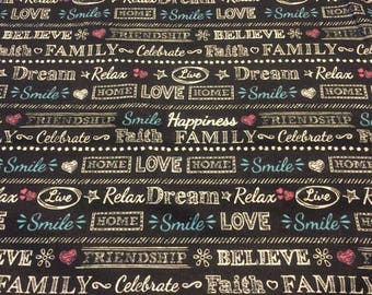 Family Flannel Fabric by the Yard