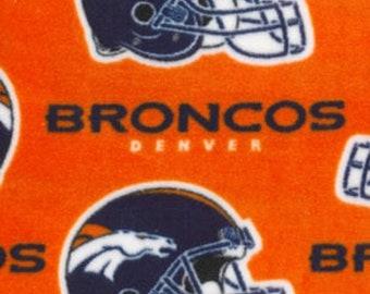 Denver Broncos Fleece Fabric by the Yard