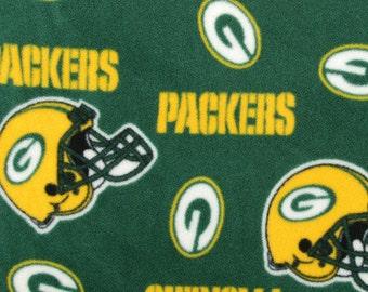 Green Bay Packers Fleece Handcrafted Blanket Sets