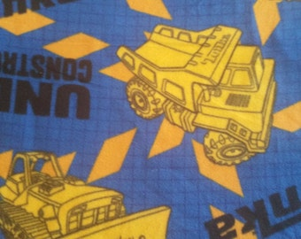 Tonka Truck Fleece  Pillowcase
