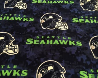 Seattle Seahawks Fleece Handcrafted Blanket Sets
