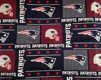 "Valance, Curtain Panel, Matching Pillow Cover ""New England Patriots"""
