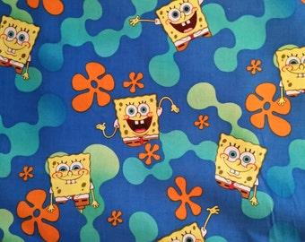 Spongebob Cotton Fabric by the Yard