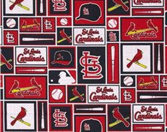 "Valance, Curtain Panel, Matching Pillow Cover ""St. Louis Cardinals"""