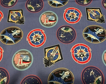 NASA Space Cotton Fabric by the Yard