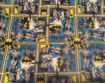 "Valance, Curtain Panel, Matching Pillow Cover "" Batman"""
