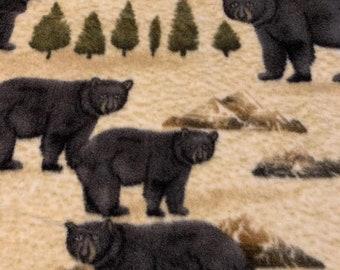 IVORY Forest Animals Cuddle Soft Fleece Fabric 150cm