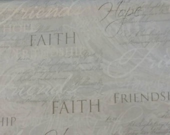 """Valance, Curtain Panel, Matching Pillow Cover """"Faith"""""""