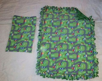 Handcrafted Fleece Machine Blanket with FREE Matching Pillowcase