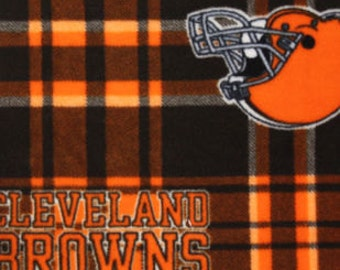 Cleveland Browns Fleece Handcrafted Blanket Sets