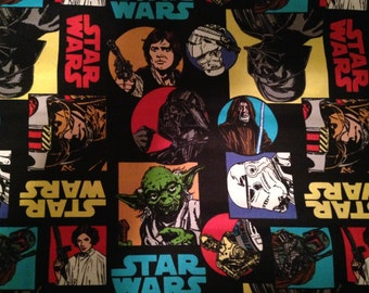 """Valance, Curtain Panel, Matching Pillow Cover """"Star Wars"""""""