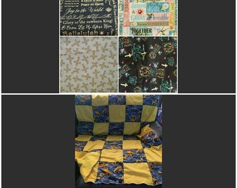 """Quilt, Baby, Throw, Twin, Full, Queen, King,  Pillow Cover,  Valance, Curtain Panel """"Faith"""""""